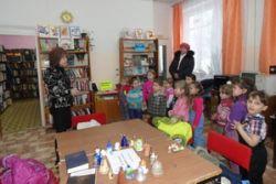 Ребята из группы «Колокольчики» побывали на экскурсии в библиотеке поселка Калашниково