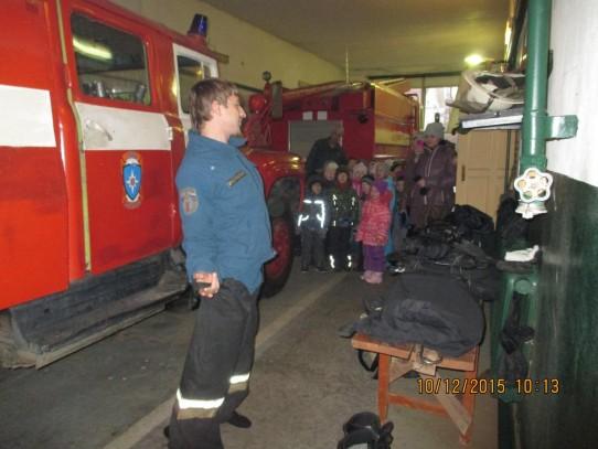 Группа «Колокольчики» побывала на экскурсии в пожарной части